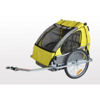 Quality 2 in 1 Baby Double Bike Trailers high strength steel frame with black powder coating for sale