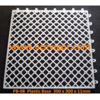 Quality PB-08 White Plastic Base for WPC deck tiles for sale