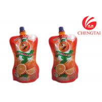 Quality Orange Juice / Water Shaped Drink Stand Up Pouch With Spout Bag for sale