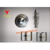 China Tungsten Carbide Round Shank Cutter Bit Wear Resistant With Big Alloy Head on sale