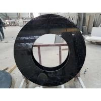 Quality Black Nero Marquina round table countertops marble table tops SGS Certification for sale