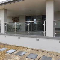 Quality diy stainless steel balustrade sydney with extra clear tempered glass design for sale