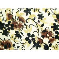 Quality Beautiful Floral Flocked Fabric , Mattress / Toy / Clothes Fabrics for sale