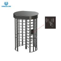 Quality Electric Stainless Steel Access Control Turnstile Gate Full Height With IC ID Card Reader for sale