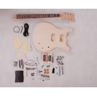 Quality Set In Neck DIY Electric Guitar Kits 3 Way Switch Guitar With Flamed Maple Veneered AG-DU2 for sale