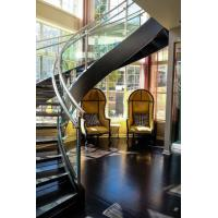 Quality Arc Modern Wood Steel Round Staircase for sale