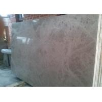 Quality Solid Marble Stone Countertops Slab Brown Color Polished Finish Surface for sale