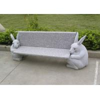 Quality Outdoor Stone Garden Sculptures Garden Stone Bench With Animal Carving for sale