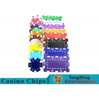 Quality American Custom Made Casino Poker Chips With Dice 3.3mm Thickness for sale