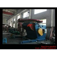 Quality 1.2T Pressure Vessel Pipe Rotary Welding Positioner With Worktable Revolving And Tilting Type for sale