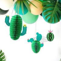 China New Cactus Watermelons Shaped Paper Honeycomb Balls Tissue Paper Decorations on sale