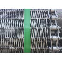 Quality Customized Stainless Steel Wire Mesh Conveyor Belt With Chain SGS Listed for sale