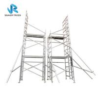 Quality Building Construction Cleaning Aluminium Scaffolding Ladder , En1004 Mobile Tower Scaffold for sale