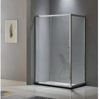 Buy cheap Aluminium shower enclosure 1200*700 with two sliding doors and one fixed panel from wholesalers