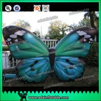 Quality Outdoor Advertising Inflatable Butterfly Beautiful Green High Tear Strength for sale