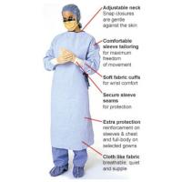 Buy cheap Disposable SMS surgical gown,blue color,SMS,protective sterilized from wholesalers