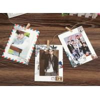 China 6inch vintage style hanging paper photo frame wholesale stamped paper on sale