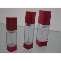 Buy empty 15ml 20ml 30ml square electroplated gold cosmetic airless bottle at wholesale prices