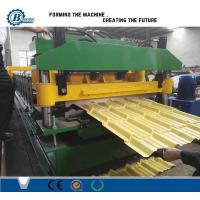 Quality Colorful Tile Roll Forming Machine With Touch Screen PLC Control for sale