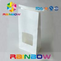 Tin Tie Top Kraft Customized Paper Bags With Window For Flower Seed Tea Packing