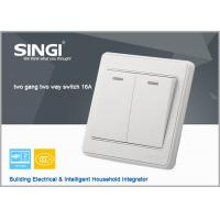 Quality Newly Designed spray  2gang 2way Wall Switch/Push Button Switch PC Material (white  Color ) for sale