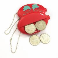 Quality Promotional Coin holder keychain PVC logo customized coin purse for sale
