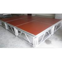 Buy Red 3 - Level Plywood Aluminum Stage Platform With Anti - Slip Board at wholesale prices