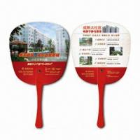 Quality Hand Fans, Customer's Logos Printings are Available, Made of PP, Suitable for Promotional Purposes for sale