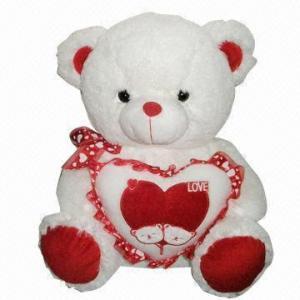 China 17.5-inch White Bear Holding Bear on sale