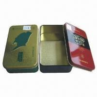 Quality Tin Boxes, Measures 139x85x41mm, Customized Colors are Accepted for sale