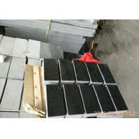 Quality 3200kg/M3 Basalt Paving Stones , G684 Black Pearl Granite Landscape Stone for sale