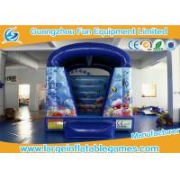 Quality Blue Fish Theme Blow Up Bouncy Castle For Children 2 Years Warranty for sale