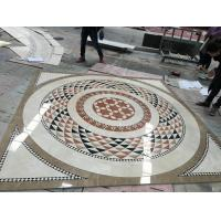 Quality Water Jet Cutting Marble Floor Medallions Interior Luxury Pattern Design for sale
