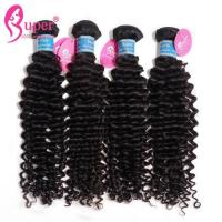 Quality Deep Curly Brazilian Virgin Hair Extensions 100g per bundle Weight Natural Black for sale