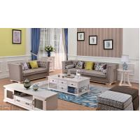 Buy cheap European Modern Style Furniture Living Room Sofa Set Light Brown Color from wholesalers
