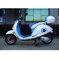 China White / Blue 50cc Mini Bike Scooter With Two Rear View Mirrors / Rear Box on sale