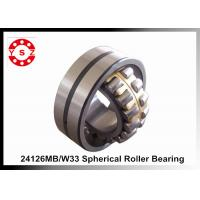 Quality 130 x 210 x 80 Large Spherical Roller Bearing MB Cage 24126 Single Row for sale