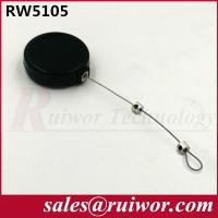 Quality Purchase Security 1/5 LB Retractable Steel Cable 50 Cm Length / 0.45 Mm Diameter for sale