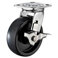 Quality Black Nylon 2 Inch Steel Caster Wheels , Large Stainless Steel Truck Wheels for sale