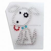 Quality Crystal Car Sticker in Animal Shape, Suitable for Window Decoration for sale