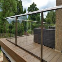 Buy Luxury Aluminum U channel clear tempered glass balustrade for Balcony at wholesale prices
