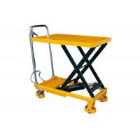 Quality Hand Lift Drive Hydraulic Lift Cart , 350kg Rated Load Mobile Scissor Lift for sale