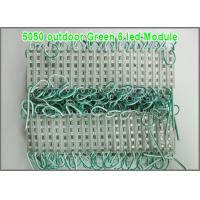 Quality 20pcs DC12V 5050 LED Module  6 LEDs Waterproof Outdoor light Backlight for billboard Green color for sale