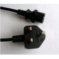 Quality BS1363 moulded power cord plug, UK C13 power supply cord for sale