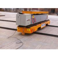 Quality SEW gearmotor driven rail transfer vehicle with dumping platform hydraulic lifting for sale