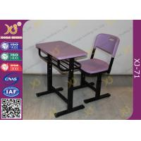 Quality Eco Friendly PP Material Student Desk And Chair Set For International School for sale