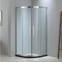 Buy cheap Sector shining stainless steel shower enclosure 900*900 with two sliding doors from wholesalers