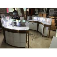 Buy High End Stainless Steel Gold Jewellery Showroom Display Showcase With Led Light at wholesale prices