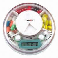 Quality Pillbox Timer, 3 Compartments with Time and Alarm for sale