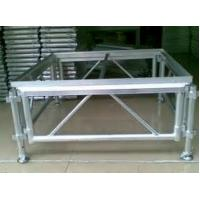 Quality Adjustable Height Aluminum Stage Truss For Indoor / Outdoor Movable Stage Platform for sale